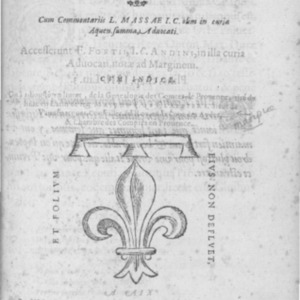 Statuta Provinciae Forcalqueriique comitatuum. Cum commentariis L. Massae... Accesserunt F. Fortii, I. C. Andini, in illa curia advocati, notæ ad marginem.
