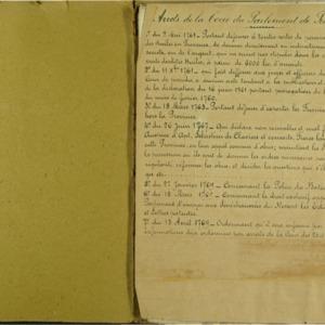 Arrest de la Cour du Parlement de Provence