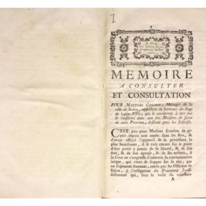 Factums concernant la procédure civile en Provence, avec quelques pièces manuscrites