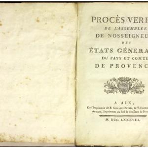 Procès-verbal de l'assemblée de nosseigneurs des États généraux du pays et comté de Provence