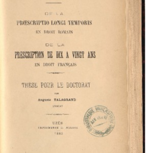 RES-AIX-T-130_Talagrand_Proescriptio.pdf