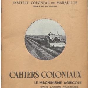 machinisme (Le) agricole dans l'Union française