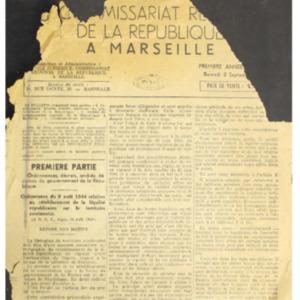 Bulletin officiel du Commissariat régional de la République à Marseille