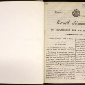 Recueil administratif du Département des Bouches-du-Rhône