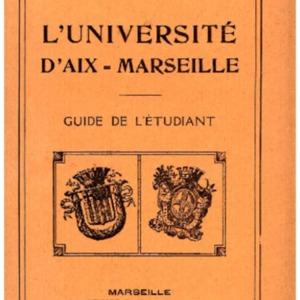 Guide de l'étudiant / Université d'Aix-Marseille