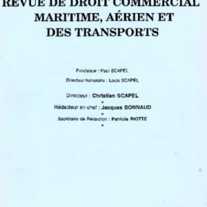 Revue de droit commercial, maritime, aérien et des transports