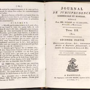 Journal de jurisprudence commerciale et maritime (1876-1939)