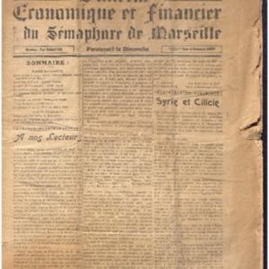 Bulletin économique et financier du Sémaphore de Marseille