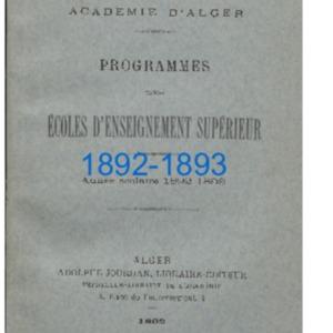 Programmes des Ecoles d'enseignement supérieur