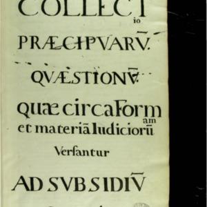 Code Julien. Collectio praecipuarum quaestionum quae circa formam et materiam judiciorum versantur ad subsidium senatoris