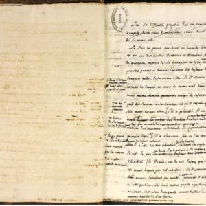 Recueils de factums manuscrits issus de la bibliothèque des Portalis, avec de nombreuses annotations de Jean-Etienne-Marie Portalis (1729-1738)