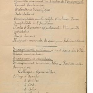 Classement des archives de l'Académie (documents embrassant la période de 1809 à 1886 environ)