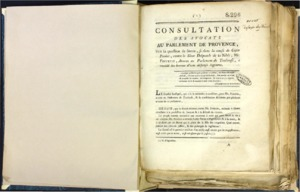 Recueil de factums imprimés de droit provençal
