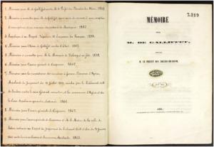 Mémoire pour M. de Galliffet contre M. le préfet des Bouches-du-Rhône