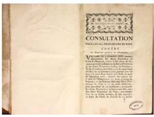 Recueils de factums imprimés issus de la bibliothèque des Portalis, avec de nombreuses annotations de Jean-Etienne-Marie Portalis (1773-1781)