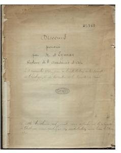 Discours prononcé par M. d'Eymar, Recteur de l'Académie d'Aix, le 3 novembre 1810, jour de l'installation de la Faculté de Théologie, et de la rentrée de la Faculté de Droit