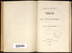 De la cession d'actions en droit romain : De la subrogation légale en droit français : thèse présentée et soutenue devant la faculté de droit d'Aix