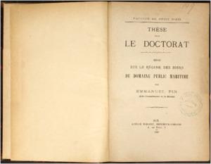 Essai sur le régime des biens du domaine public maritime : thèse présentée et soutenue devant la faculté de droit d'Aix