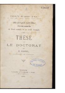 Des enfants naturels et de leur légitimation en droit romain et en droit français