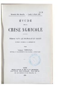 Etude sur la crise agricole : thèse présentée et soutenue devant la faculté de droit d'Aix