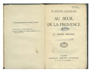 seuil (Au) de la Provence : le Rhône cévenol