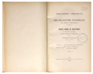 Des obligations naturelles en droit français : thèse présentée et soutenue le 21 décembre 1897