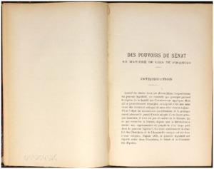 Des pouvoirs du sénat en matière de lois de finances : thèse présentée et soutenue devant la faculté de droit d'Aix