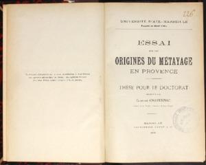 responsabilité (La) des accidents dont les ouvriers sont victimes dans leur travail, Loi du 9 avril 1898 : thèse pour le doctorat