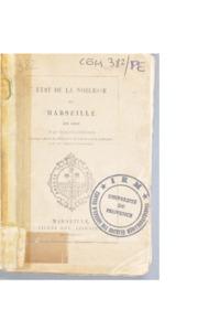 Etat de la noblesse de Marseille en 1693