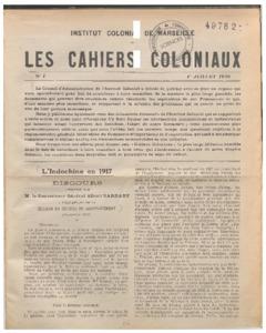 Cahiers (Les) coloniaux