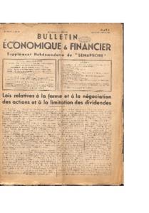 Bulletin économique et financier