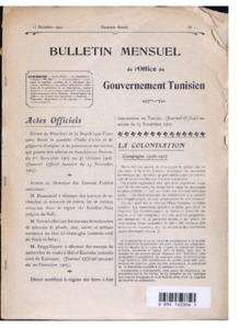 Bulletin mensuel de l'Office du gouvernement tunisien