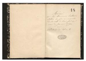 Mémoire sur les monumens, tableaux, statues les plus remarquables de la ville d'Aix fait au mois de janvier 1791 ou Détails des églises, monumens etc... / avec des annotations par J.B.F. Porte (copie commencée dans les premiers jours de décembre 1861 et terminée le 8 janvier 1862)